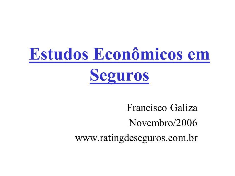 Estudos Econômicos em Seguros Francisco Galiza Novembro/2006 www.ratingdeseguros.com.br