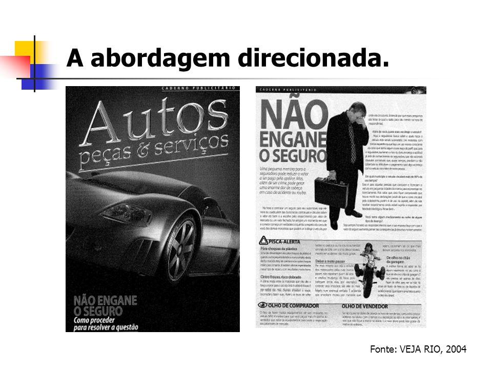 A abordagem direcionada. Fonte: VEJA RIO, 2004