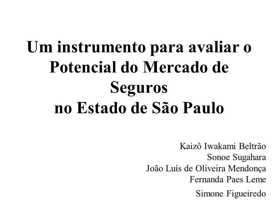 Um instrumento para avaliar o Potencial do Mercado de Seguros no Estado de São Paulo Kaizô Iwakami Beltrão Sonoe Sugahara João Luís de Oliveira Mendon