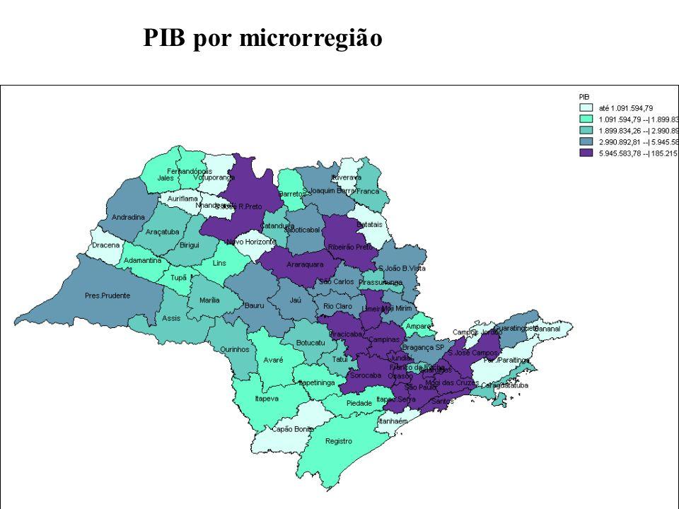 PIB por microrregião