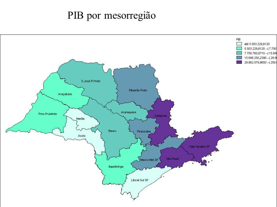 PIB por mesorregião