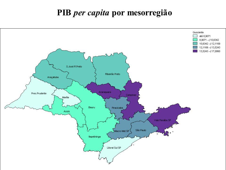 PIB per capita por mesorregião