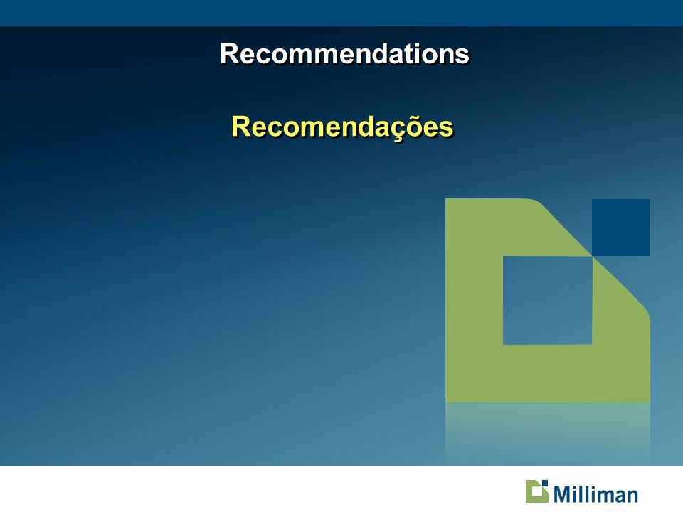 April 1, 2014 Recommendations Recomendações