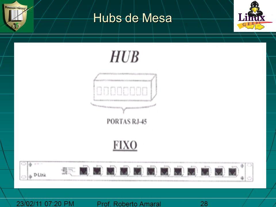 23/02/11 07:20 PM Prof. Roberto Amaral 28 Hubs de Mesa