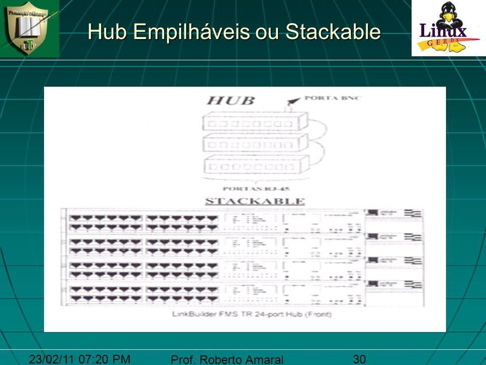 23/02/11 07:20 PM Prof. Roberto Amaral 30 Hub Empilháveis ou Stackable