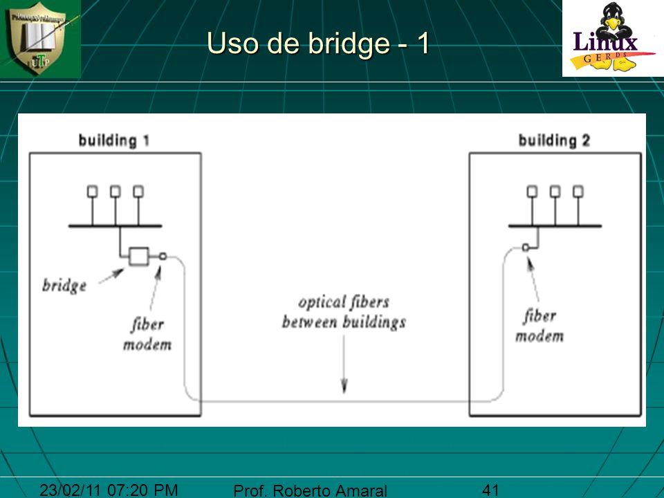 23/02/11 07:20 PM Prof. Roberto Amaral 41 Uso de bridge - 1