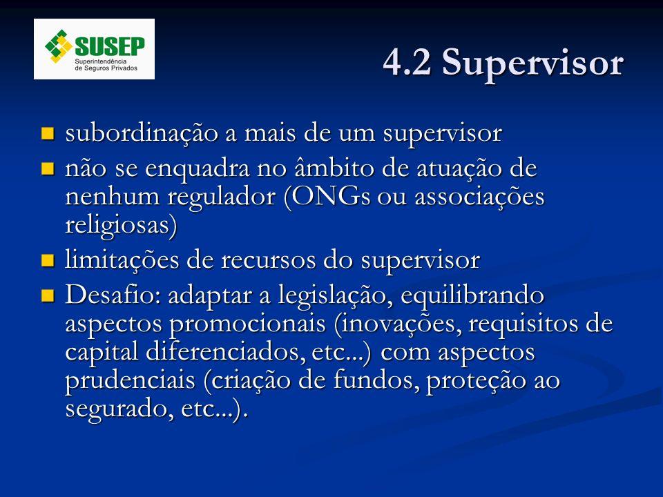 4.2 Supervisor subordinação a mais de um supervisor subordinação a mais de um supervisor não se enquadra no âmbito de atuação de nenhum regulador (ONG