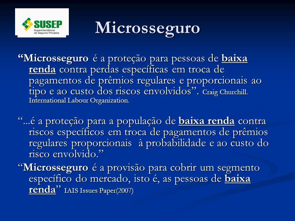 Microsseguro Microsseguro é a proteção para pessoas de baixa renda contra perdas específicas em troca de pagamentos de prêmios regulares e proporciona