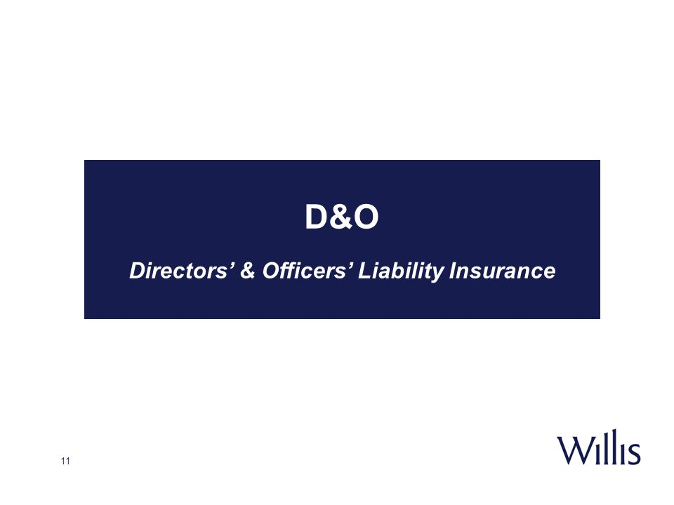 11 D&O Directors & Officers Liability Insurance