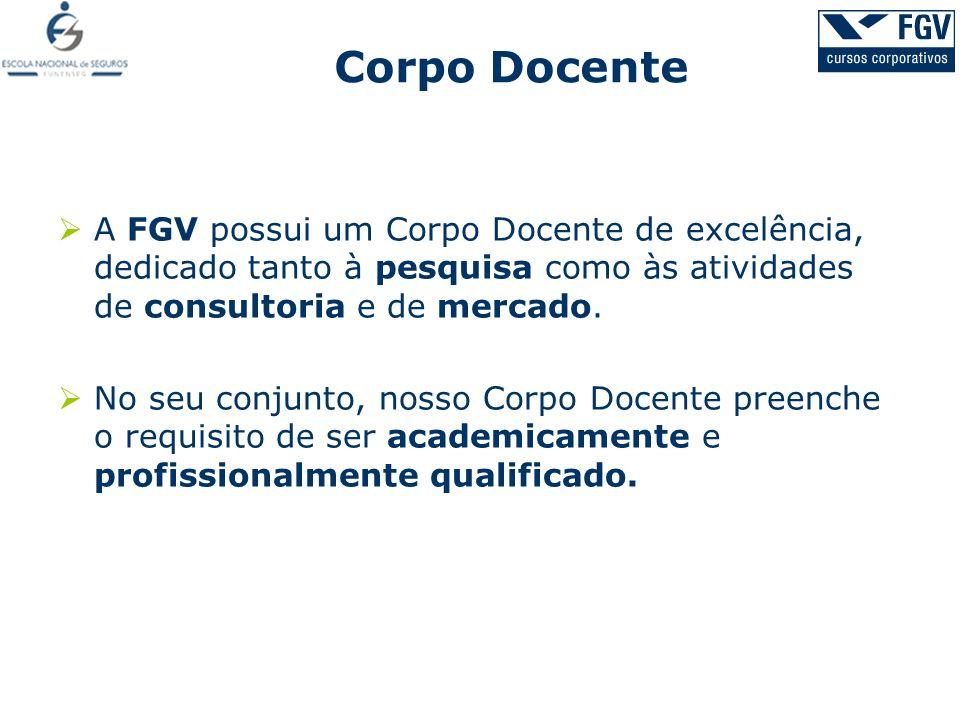 A FGV possui um Corpo Docente de excelência, dedicado tanto à pesquisa como às atividades de consultoria e de mercado. No seu conjunto, nosso Corpo Do