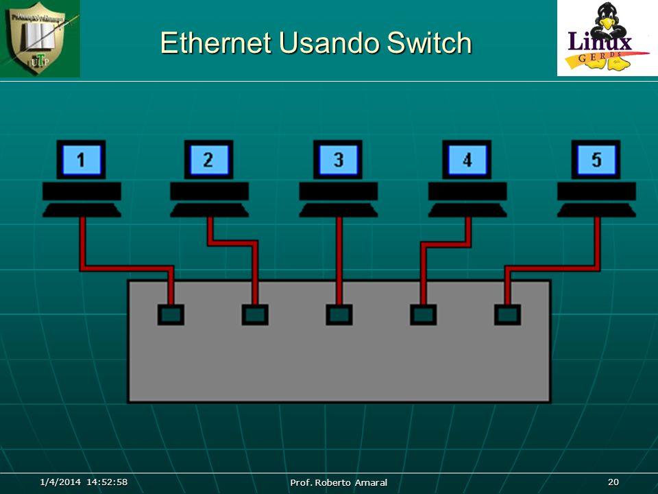 1/4/2014 14:54:40 Prof. Roberto Amaral 20 Ethernet Usando Switch