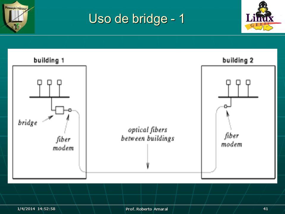 1/4/2014 14:54:40 Prof. Roberto Amaral 41 Uso de bridge - 1