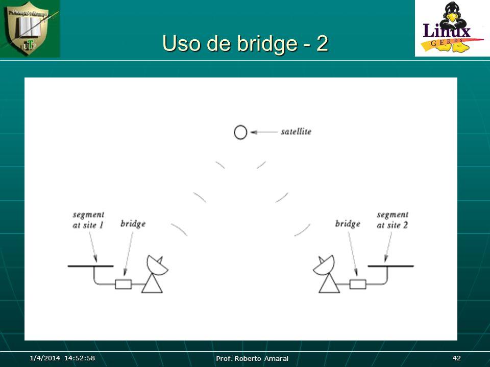 1/4/2014 14:54:40 Prof. Roberto Amaral 42 Uso de bridge - 2