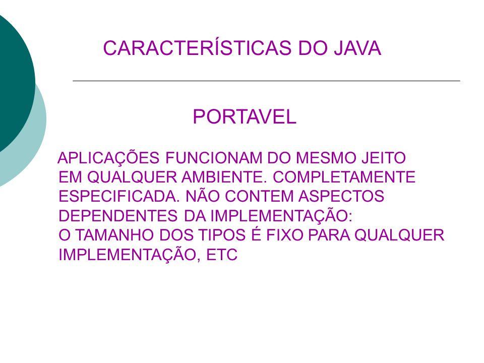 SEGURA RESTRIÇÕES DE ACESSO A ARQUIVOS (APPLETS) MANIPULAÇÃO DE PONTEIROS.