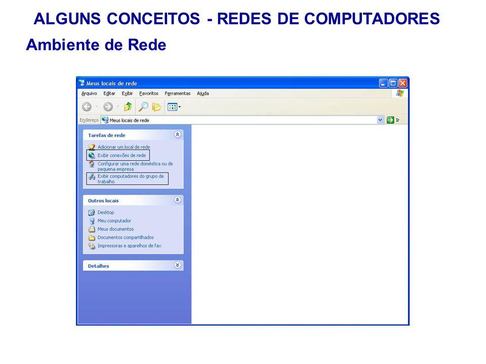 21 ALGUNS CONCEITOS - REDES DE COMPUTADORES Ambiente de Rede