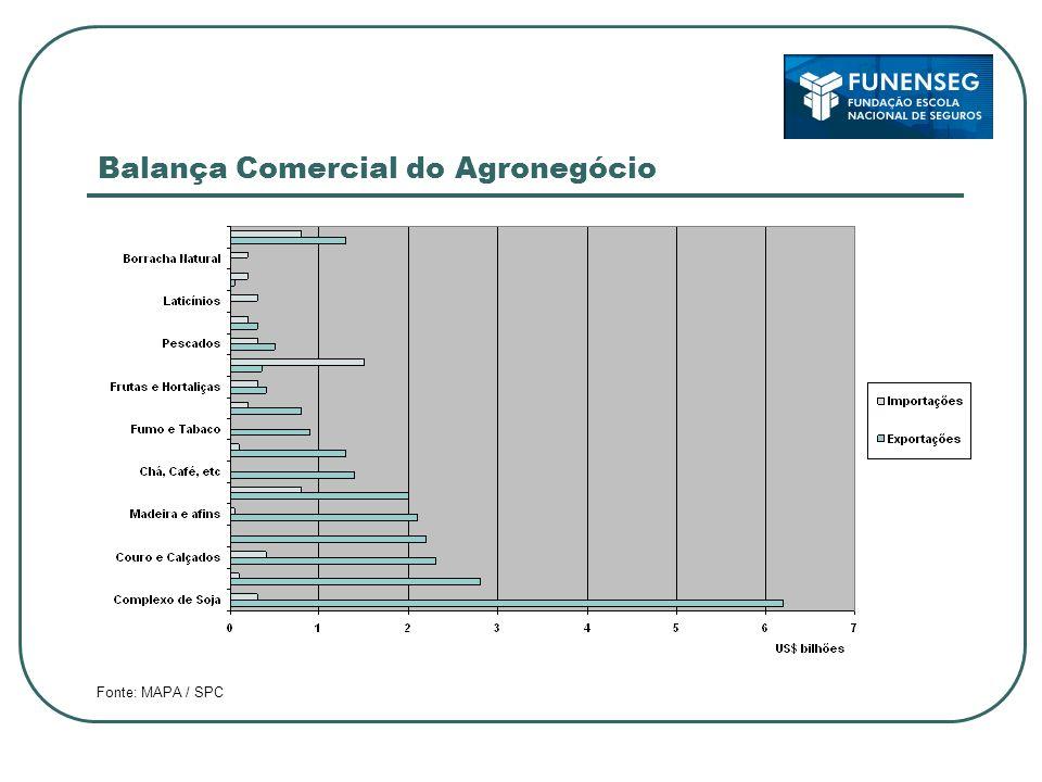 Balança Comercial do Agronegócio Fonte: MAPA / SPC