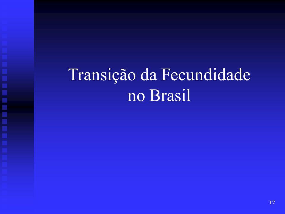 17 Transição da Fecundidade no Brasil