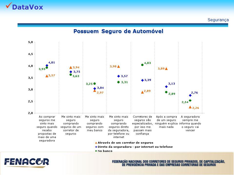 DataVox Possuem Seguro de Automóvel Segurança