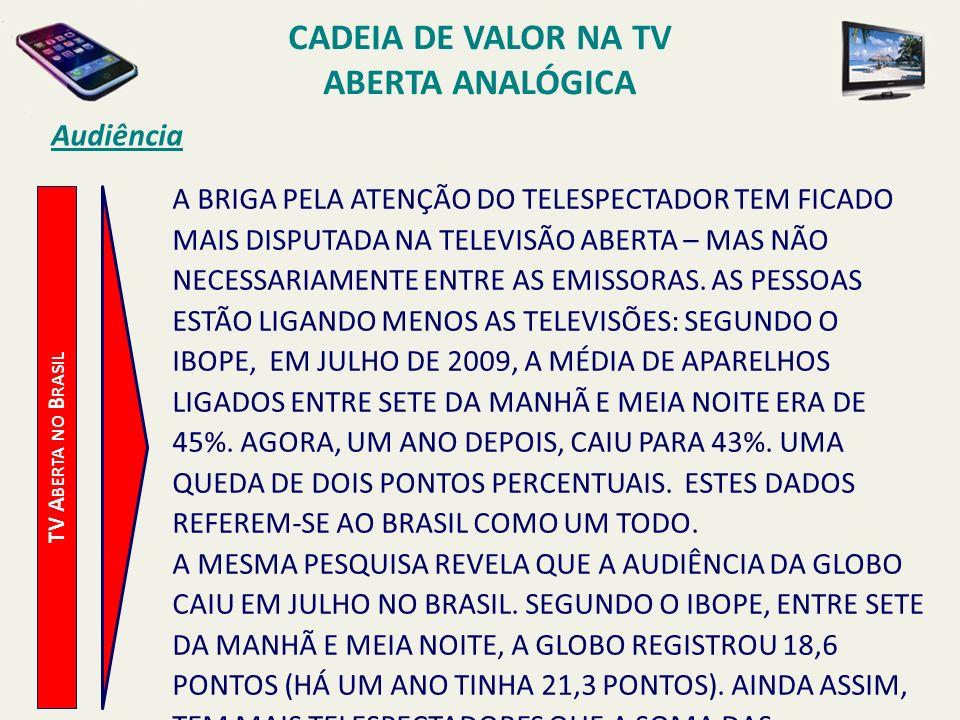 TV A BERTA NO B RASIL Audiência A BRIGA PELA ATENÇÃO DO TELESPECTADOR TEM FICADO MAIS DISPUTADA NA TELEVISÃO ABERTA – MAS NÃO NECESSARIAMENTE ENTRE AS
