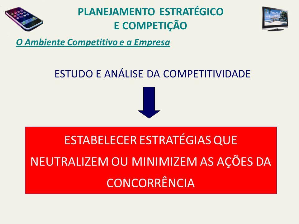 O Ambiente Competitivo e a Empresa ESTABELECER ESTRATÉGIAS QUE NEUTRALIZEM OU MINIMIZEM AS AÇÕES DA CONCORRÊNCIA ESTUDO E ANÁLISE DA COMPETITIVIDADE P