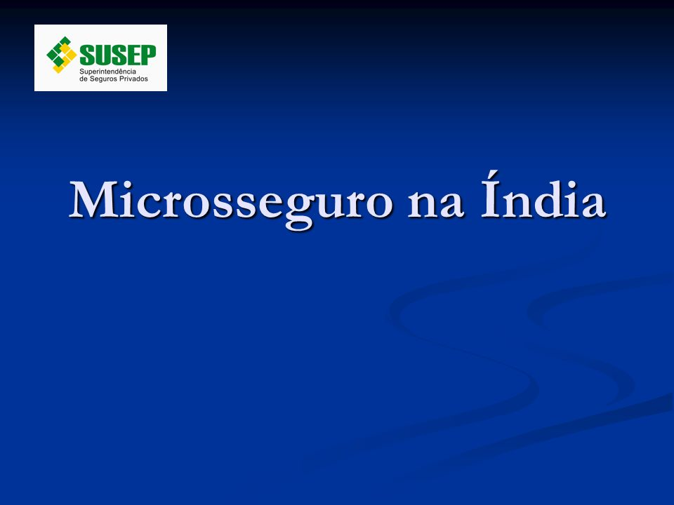 Microsseguro na Índia