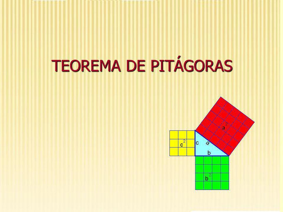 Construindo quadrados: Construir três quadrados, de cores diferentes, sendo que a medida do lado de cada quadrado deve ser igual a medida de cada lado do triângulo retângulo feito de barbante.