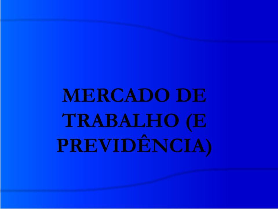 MERCADO DE TRABALHO (E PREVIDÊNCIA)