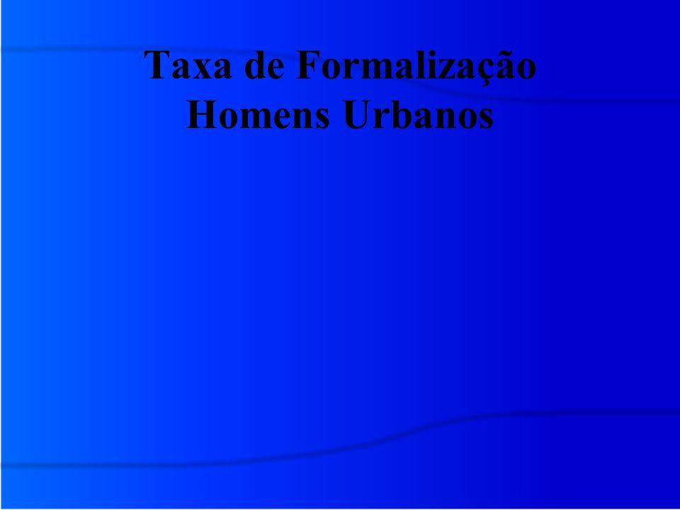 Taxa de Formalização Homens Urbanos
