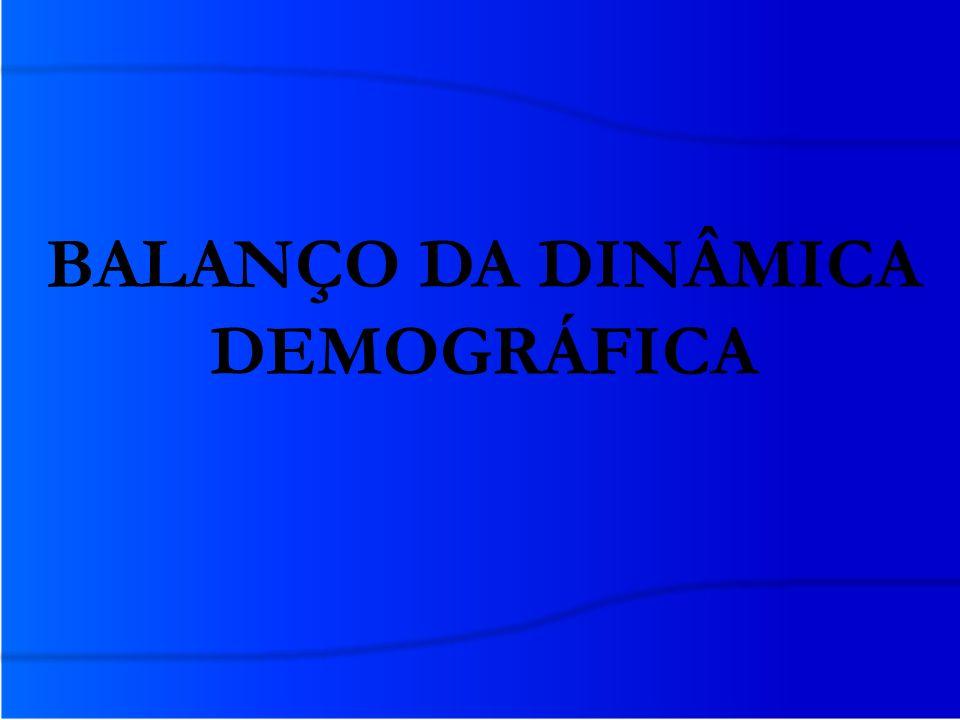 BALANÇO DA DINÂMICA DEMOGRÁFICA