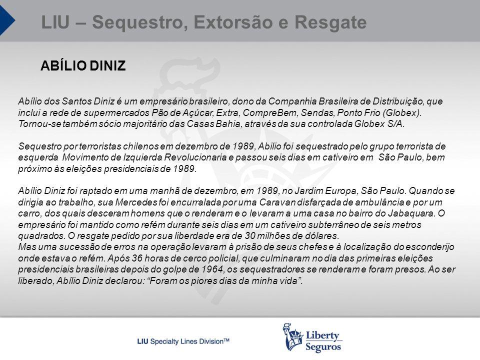 ABÍLIO DINIZ Abílio dos Santos Diniz é um empresário brasileiro, dono da Companhia Brasileira de Distribuição, que inclui a rede de supermercados Pão