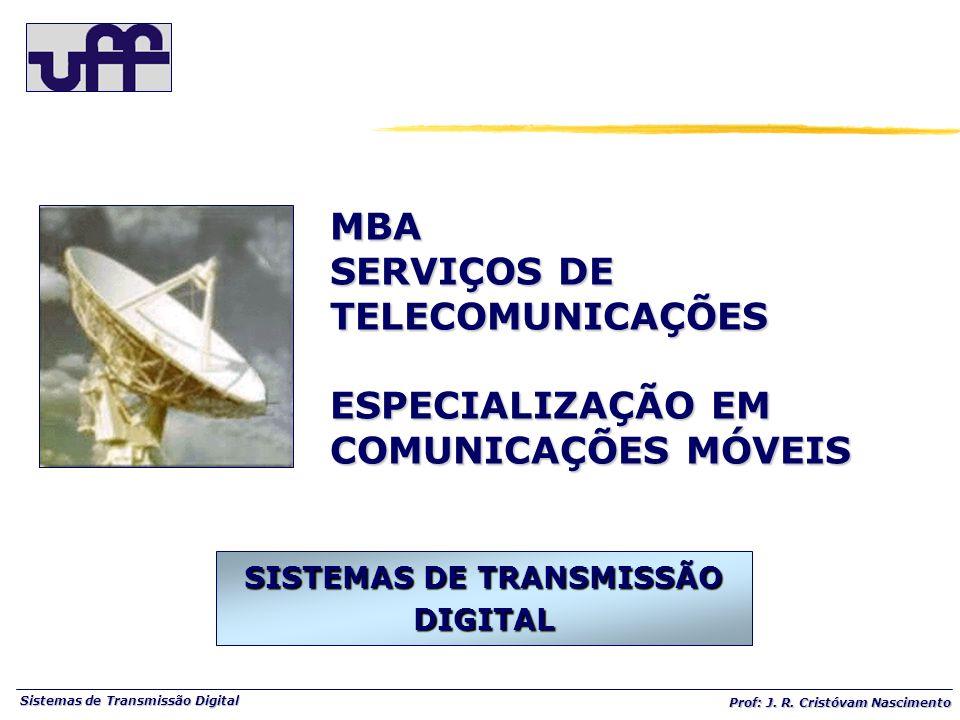 Sistemas de Transmissão Digital Prof: J.R. Cristóvam Nascimento Prof.