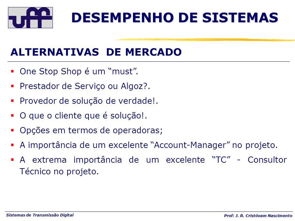 Sistemas de Transmissão Digital Prof: J. R. Cristóvam Nascimento One Stop Shop é um must. Prestador de Serviço ou Algoz?. Provedor de solução de verda