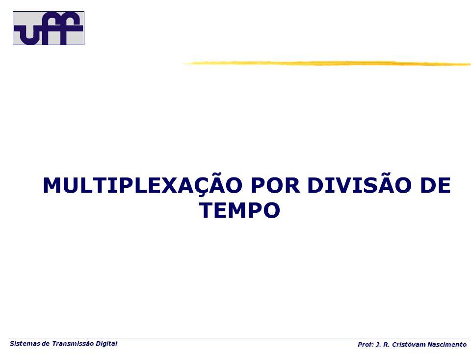 Sistemas de Transmissão Digital Prof: J. R. Cristóvam Nascimento MULTIPLEXAÇÃO POR DIVISÃO DE TEMPO