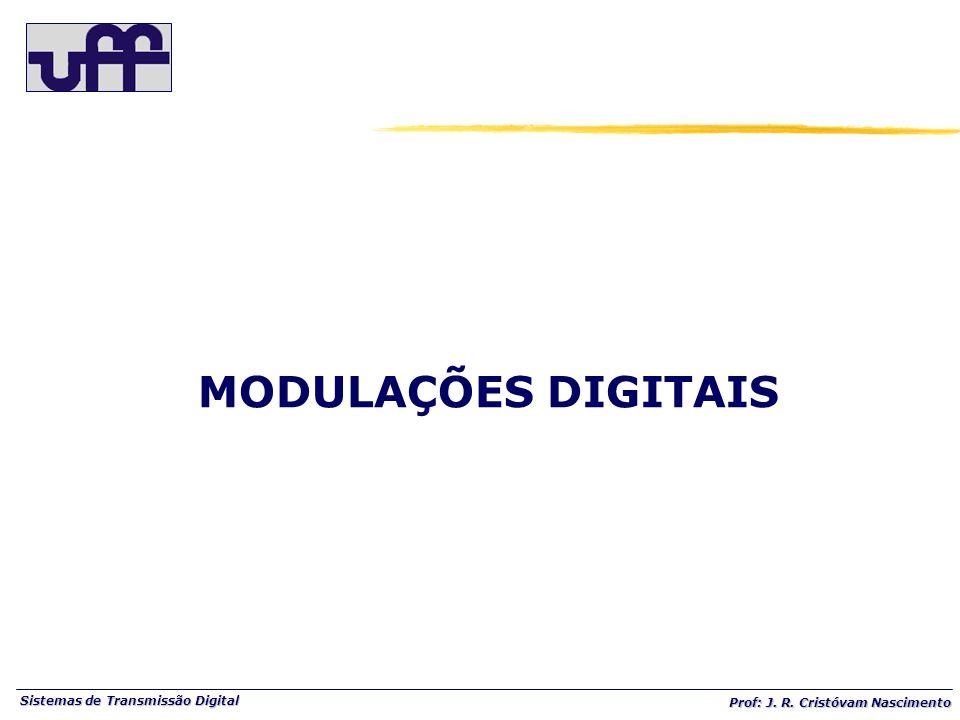 Sistemas de Transmissão Digital Prof: J. R. Cristóvam Nascimento MODULAÇÕES DIGITAIS