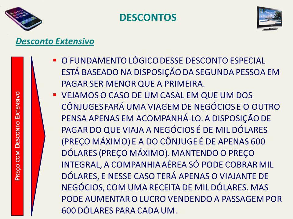 DESCONTOS Desconto Extensivo P REÇO COM D ESCONTO E XTENSIVO O FUNDAMENTO LÓGICO DESSE DESCONTO ESPECIAL ESTÁ BASEADO NA DISPOSIÇÃO DA SEGUNDA PESSOA