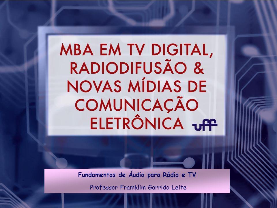 Fundamentos de Áudio para Rádio e TV Professor Framklim Garrido Leite