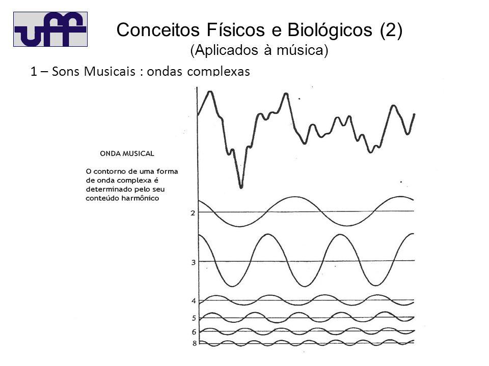 C 1 – Sons Musicais : ondas complexas Conceitos Físicos e Biológicos (2) (Aplicados à música)