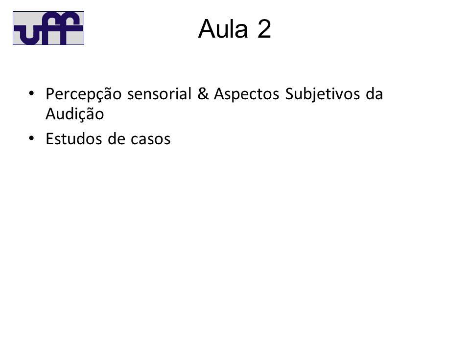 Aula 2 Percepção sensorial & Aspectos Subjetivos da Audição Estudos de casos