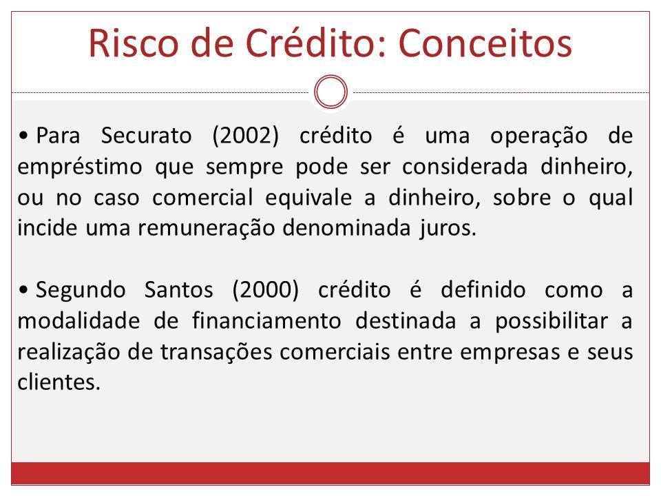 Para Securato (2002) crédito é uma operação de empréstimo que sempre pode ser considerada dinheiro, ou no caso comercial equivale a dinheiro, sobre o