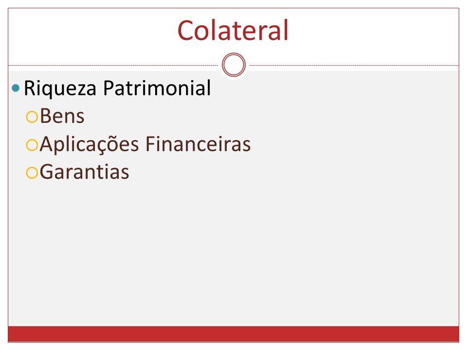 Riqueza Patrimonial Bens Aplicações Financeiras Garantias Colateral