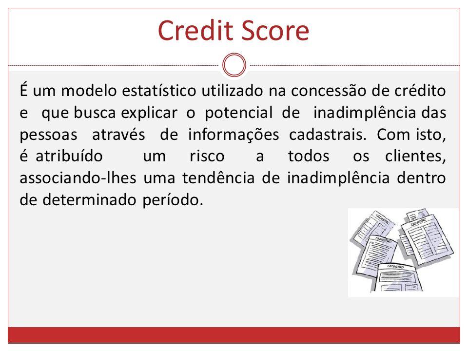 É um modelo estatístico utilizado na concessão de crédito e que busca explicar o potencial de inadimplência das pessoas através de informações cadastr
