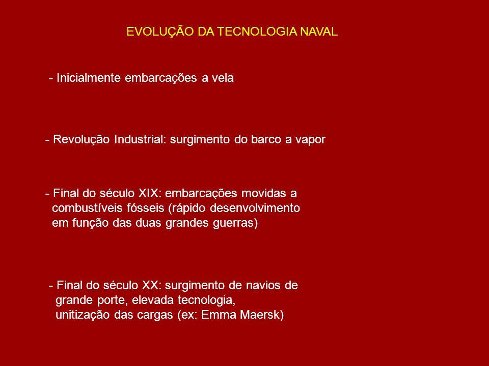 A EVOLUÇÃO DA TECNOLOGIA NAVAL PROMOVE A NECESSIDADE DE ADAPTAÇÃO DOS PORTOS E CIDADES PORTUÁRIAS ÀS NOVAS SITUAÇÕES DO MERCADO INTERNACIONAL …
