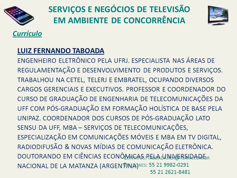 DVB-H com IPDC TV MÓVEL E TV PORTÁTIL
