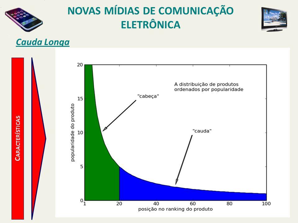 C ARACTERÍSTICAS Cauda Longa NOVAS MÍDIAS DE COMUNICAÇÃO ELETRÔNICA
