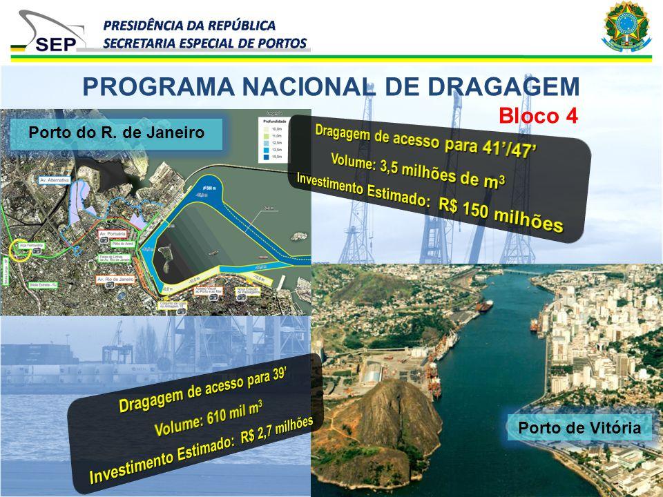 Bloco 4 PROGRAMA NACIONAL DE DRAGAGEM Porto do R. de Janeiro Porto de Vitória
