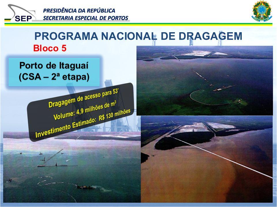 Bloco 5 PROGRAMA NACIONAL DE DRAGAGEM Porto de Itaguaí (CSA – 2ª etapa)