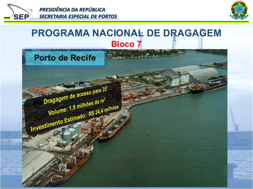 Bloco 7 PROGRAMA NACIONAL DE DRAGAGEM Porto de Recife