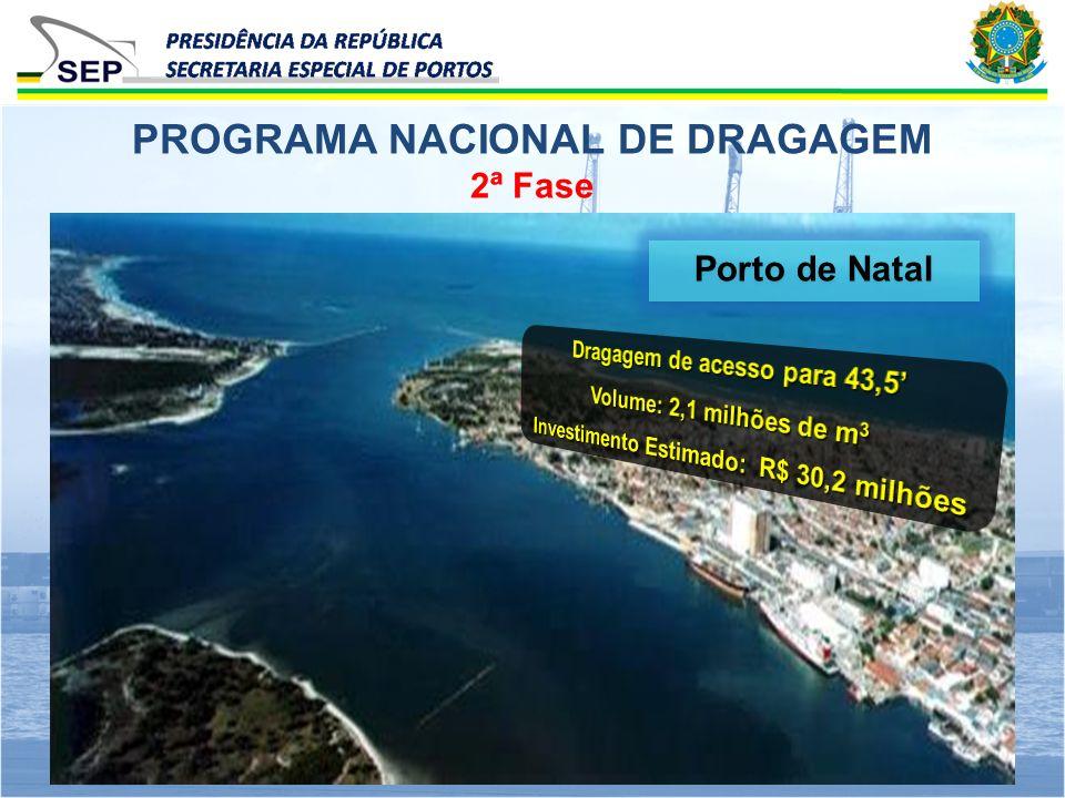 2ª Fase PROGRAMA NACIONAL DE DRAGAGEM Porto de Natal