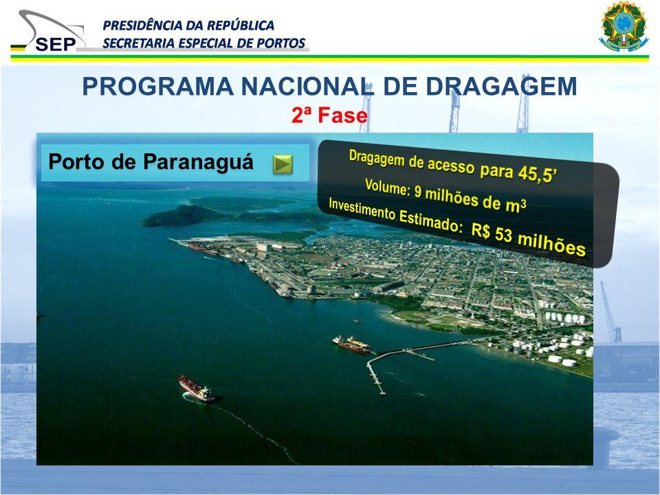 2ª Fase PROGRAMA NACIONAL DE DRAGAGEM Porto de Paranaguá