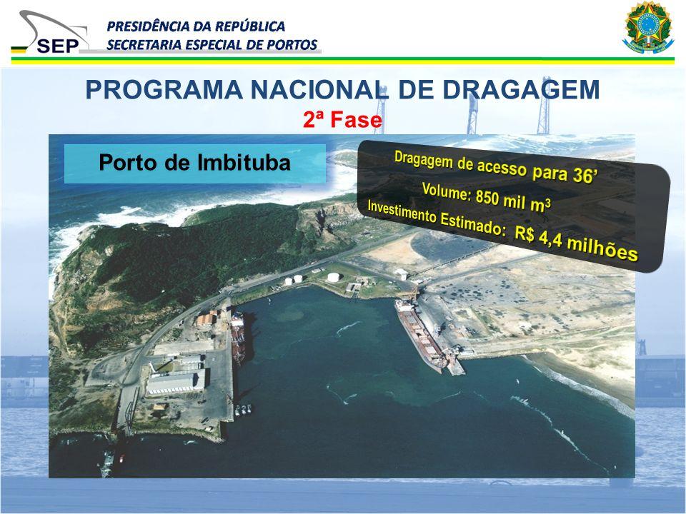 2ª Fase PROGRAMA NACIONAL DE DRAGAGEM Porto de Imbituba